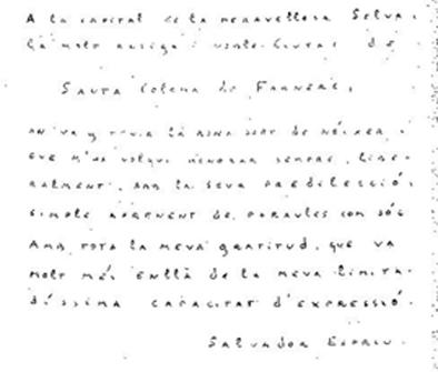Manuscrit de Salvador Espriu