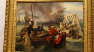 J Dehoij Meta Willem van de Velde fent esboç durant batalla 1845